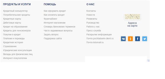 Почта банк рассчитать кредит онлайн калькулятор потребительский